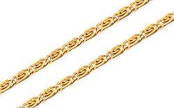 Zlatá retiazka Snail - slimák 3 mm IZ10841