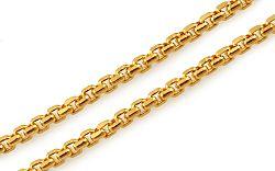 Zlatá retiazka Square Rolo 1,7 mm IZ10244