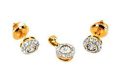 Zlatá súprava Ardiente 5 s diamantmi 0,240 ct KU0079