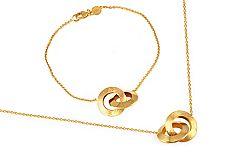 Zlatá súprava Loops 2 IZ9514S
