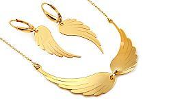 Zlatá súprava s anjelskými krídlami IZ9094S