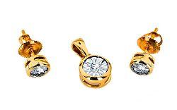 Zlatá súprava s diamantmi 0,110 ct Mariya 6 KU0072