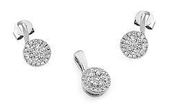 Zlatá súprava s diamantmi IZBR268AS