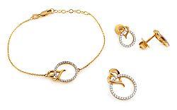Zlatá súprava s diamantmi Lovey KU568S
