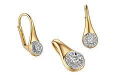 Zlatá súprava s diamantmi Mallory IZBR324S