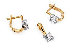 Zlatá súprava v diamantovom štýle Raven IZ10623S