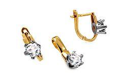 Zlatá súprava v diamantovom štýle Severa IZ10625S
