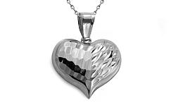 Zlaté biele gravírované srdce IZ8921A