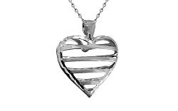 Zlaté biele srdce IZ8922A