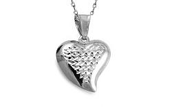 Zlaté biele srdce s gravírom IZ8902A