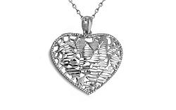 Zlaté biele srdce s výpletom IZ8901A