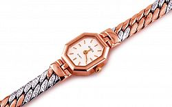 Zlaté dámske hodinky Royal clock 4 IZ667