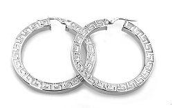 Zlaté dámske kruhové náušnice antic IZ2392