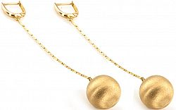 Zlaté dámske náušnice BALLS IZ1085
