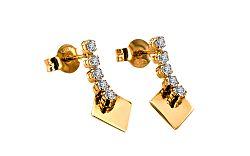 Zlaté dámske naušnice Carine 3 IZ6556