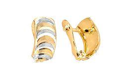 Zlaté dámske náušnice gravírované IZ4668