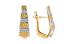 Zlaté dámske náušnice Melánia 6 IZ7035