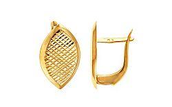 Zlaté dámske náušnice so vzorom IZ9324