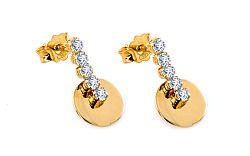 Zlaté dámske naušnice Violette 1 IZ6578