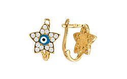 Zlaté dievčenské náušnice Kvietok IZ4998
