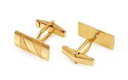 Zlaté manžetové gombíky lesklo-matované IZ668