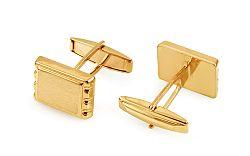 Zlaté manžetové gombíky obdĺžnikové s matovaním IZ11499
