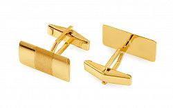Zlaté manžetové gombíky obdĺžnikové s matovaním IZ11501