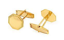 Zlaté manžetové gombíky Osemhran s gravírom IZ11500