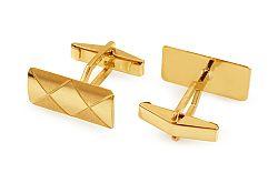 Zlaté manžetové gombíky s kosoštvorcovým vzorom IZ11502