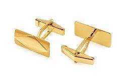 Zlaté manžetové gombíky s kosoštvorcovým vzorom IZ3262