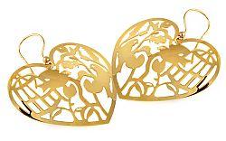 Zlaté náušnice Birds IZ9462