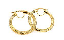 Zlaté náušnice kolekcia Flexi 3 cm IZ7441