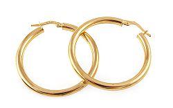 Zlaté náušnice kruhy 3,5 cm IZ9301