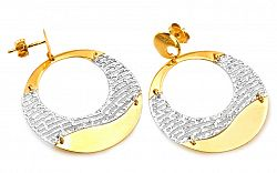 Zlaté náušnice kruhy 3 cm IZ9PA040