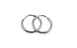 Zlaté náušnice krúžky hladké biele 1,2 cm IZ10194A