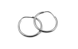 Zlaté náušnice krúžky hladké biele 1,5 mm IZ10193A
