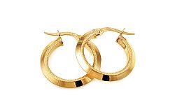 Zlaté náušnice krúžky s gravírom 2 cm IZ10324