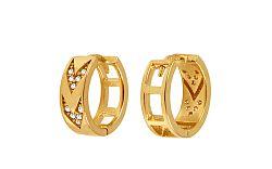 Zlaté náušnice krúžky so zirkónmi IZ10824