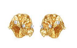 Zlaté náušnice kvietky IZ9526N
