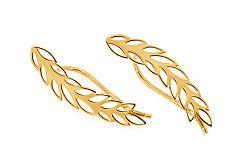 Zlaté náušnice Leaves IZ11567
