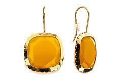Zlaté náušnice s Achátom yellow IZ5196