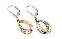 Zlaté náušnice s diamantmi 0.080 ct Fabulous Drops DB0063N
