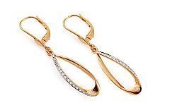 Zlaté náušnice s diamantmi 0.080 ct Nilani DB0058N