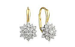 Zlaté náušnice s diamantmi Caterina IZBR098N