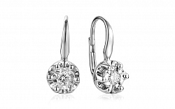 Zlaté náušnice s diamantmi Jeana IZBR062GA