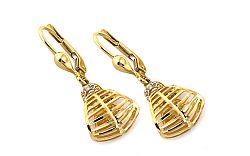 Zlaté náušnice so zirkónmi Riches IZ8220