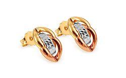 Zlaté náušnice Stacy trojfarebné IZ11181
