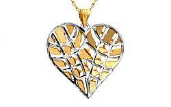 Zlaté srdce s dvojfarebným vzorom IZ8918
