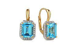 Zlaté topásové náušnice s diamantmi Viviane IZBR322N
