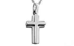 Zlatý biely krížik IZ8716A